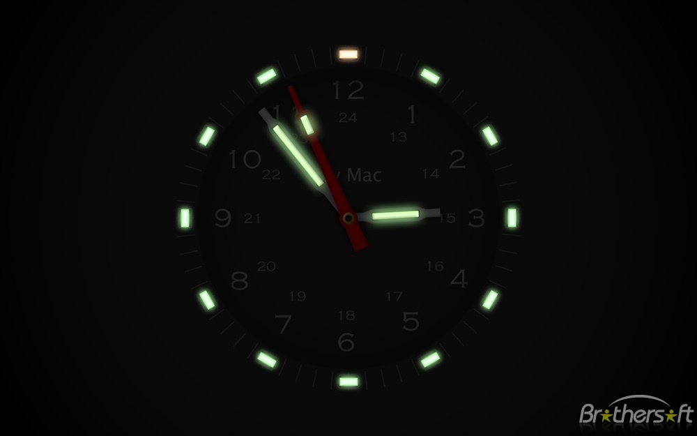 Illuminated Clock Screensaver